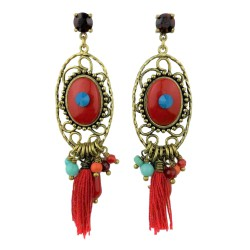 Exoal earrings - Red Ibiza