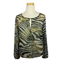 Geisha - Animal printed blouse