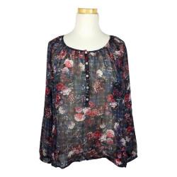 Taifun - Doorschijnende blouse