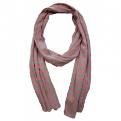 Sandwich sjaal roze/grijs